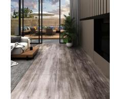 vidaXL PVC-Laminat-Dielen 5,02 m² 2 mm Selbstklebend Mattbraun Holz