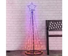 HI Lichterbaum Weihnachtsbaum mit 62 LEDs 100 cm