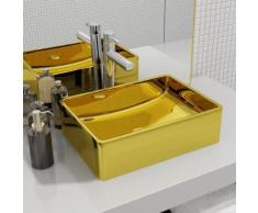 vidaXL Waschbecken 41 x 30 x 12 cm Keramik Golden