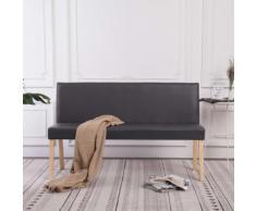 vidaXL Sitzbank 139,5 cm Grau Kunstleder