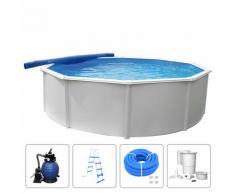 KWAD Schwimmbad-Set Steely Deluxe Rund 5,5 x 1,2 m
