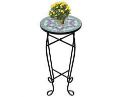 vidaXL MOSAIK Beistelltisch Tisch Bistrotisch Blumenständer Grün