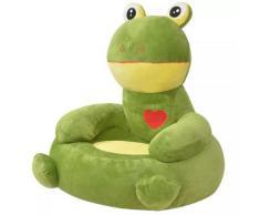 vidaXL Plüsch-Kindersessel Frosch Grün