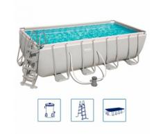 Bestway Power Steel Swimmingpool-Set Rechteckig 488×244×122 cm 56670