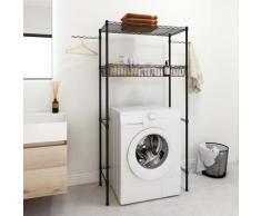 vidaXL Waschmaschinen-Regal mit 4 Ablagen Silbern 75x35x150 cm
