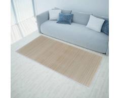 vidaXL Rechteckig Naturfarbener Bambusteppich 80 x 200 cm