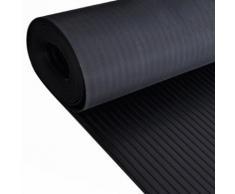 vidaXL Gummi-Bodenmatte Antirutschmatte 5 x 1 m breit gerippt