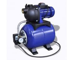 vidaXL Hauswasserwerk Gartenpumpe Motorpumpe Pumpe Elektronik 1200w Blau