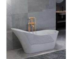 vidaXL Freistehende Badewanne und Wasserhahn 210 L 99,5 cm Golden