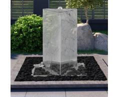 vidaXL Gartenbrunnen mit Pumpe Edelstahl 76 cm Dreieckig