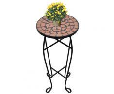 vidaXL Beistelltisch Tisch Bistrotisch Blumenständer Terrakotta