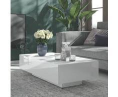 vidaXL Couchtisch Hochglanz-Weiß 115x60x31 cm Spanplatte