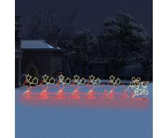 vidaXL Weihnachtsbeleuchtung 6 XXL Rentiere Schlitten 2160 LEDs 7 m