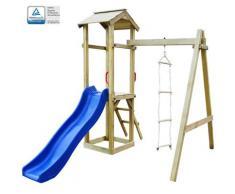 vidaXL Spielturm mit Rutsche &Leitern 237×168×218 cm Holz
