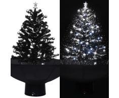 vidaXL Schneiender Weihnachtsbaum mit Schirmfuß Schwarz 75 cm PVC