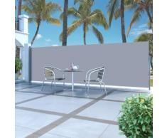vidaXL Ausziehbare Seitenmarkise 160x500 cm Grau