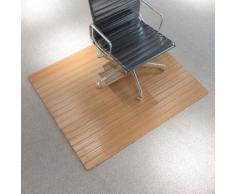 vidaXL Stuhlunterlage/Bodenschutz Matte Bambus Natürlich 110x130 cm