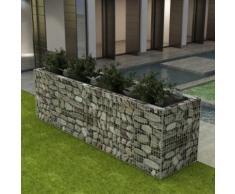 vidaXL Gabionen-Hochbeet Stahl 360×90×100 cm