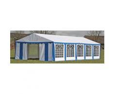 vidaXL Ersatzdach Dachplane Zeltdach Seitenteile Pavillon 10 x 5m Blau & Weiß