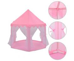 vidaXL Prinzessin-Spielzelt Rosa