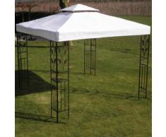 vidaXL Pavillon-Dach Weiß 3 x 3 m Stoff