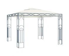 vidaXL Pavillon 300 x 300 cm Cremeweiß