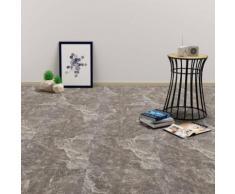 vidaXL PVC Laminat Dielen Selbstklebend 5,11 m² Schwarzer Marmor