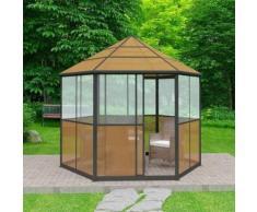 vidaXL Pavillon Aluminium Braun 310×270×265 cm