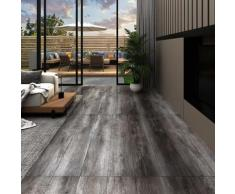 vidaXL PVC-Laminat-Dielen 4,46 m² 3 mm Selbstklebend Gestreift Holz