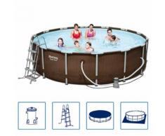 Bestway Schwimmbad Set Stahlrahmen Rund 427x107 cm 56664