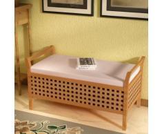 vidaXL Sitzbank mit Stauraum Walnuss-Massivholz 93×49×47 cm