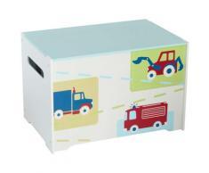 Worlds Apart Spielzeugkiste Trucks und Traktoren 60x39x39cm WORL230009