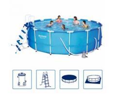 Bestway Steel Pro Swimmingpool-Set Stahlrahmen Rund 457x122 cm 56438