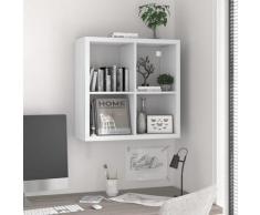 vidaXL Würfelregal Weiß 69,5x29,5x69,5 cm MDF