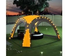 vidaXL Partyzelt mit LED und 4 Seitenwänden 3,6 x 3,6 x 2,3 m Gelb