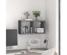 vidaXL Würfelregal Grau 69,5x29,5x37 cm MDF