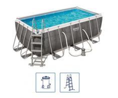 Bestway Power Steel Swimmingpool-Set Rechteckig 412×201×122 cm 56722