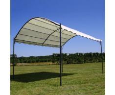 vidaXL Pavillon-Dach Beige 4 x 3 m Stoff