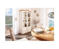 Garderobe Massivholz weiß - Landhausstil - Mexico Möbel - Schuhschrank - mit Spiegel