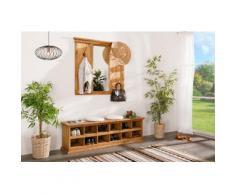 Schuhbank MEXICO, Landhausstil, Pinie Massivholz, original mexikanisches Möbel