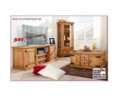 MEXICO Lowboard, TV-Kommode extra breit - Pinie massiv Möbel