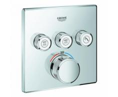 Grohe Thermostat Grohtherm SmartControl 29126 eckig FMS 3 Absperrventile chrom, 29126000 29126000