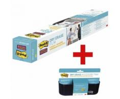 Dry Erase Folie »DEF3x2-EU« inkl. Dry Erase Ablagekorb »DEFTRAY-EU« transparent, Post-It, 91.4x60.9 cm