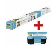 Dry Erase Folie »DEF4X3-EU« inkl. Dry Erase Ablagekorb »DEFTRAY-EU« transparent, Post-It, 121.9x91.4 cm
