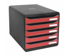 Ablagesystem »Big-Box Plus« rot, EXACOMPTA, 27.8x27.1x34.7 cm