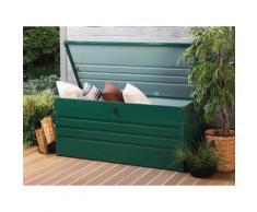 Auflagenbox Stahl dunkelgrün 132 x 62 cm CEBROSA