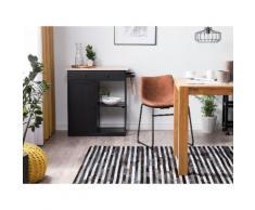 Teppich Kuhfell schwarz / grau 160 x 230 cm Streifenmuster ATALAR