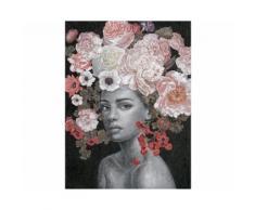 La Casa »Lady mit Rosen-Hintergrund schwarz« Ölbild handbemalt 90x120 cm