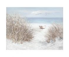 La Casa »Boot am Strand« Ölbild handbemalt 120x90 cm