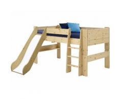 Steens For Kids 617 Spielbett Massivholz 19 Kiefer natur inkl. Rutsche